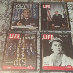Framed magazines